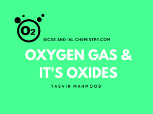 Oxygen and its oxides