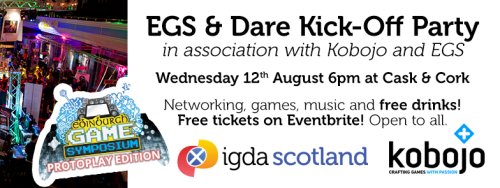 EGS Networking and Dare Kick-Off Party short banner