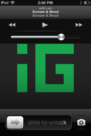 New iOS 6.1 media controls on lock screen