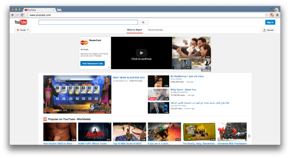 New YouTube design