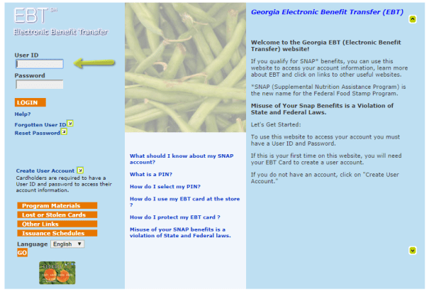 Georgia Food Stamp Card Balance