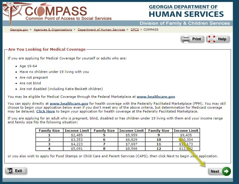 Compass Ga Gov Food Stamp Application Georgia Food Stamps Help