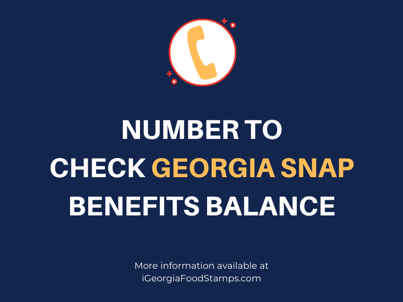 Number to check Georgia SNAP benefits balance