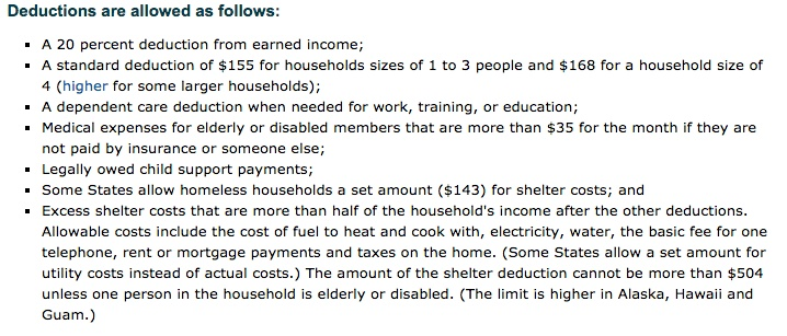 Food Stamps Based On Gross Or Net Income