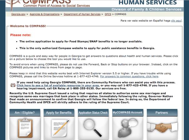 Www Compass Ga Gov Food Stamps Renew My Benefits