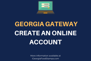 Gateway.ga.gov Create an Account Help