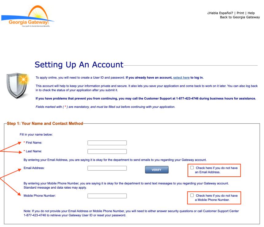 How to Create a Georgia Gateway Account