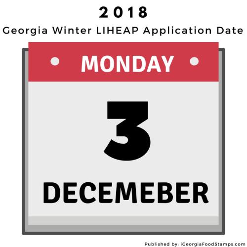 Georgia LIHEAP Winter Application Date 2018