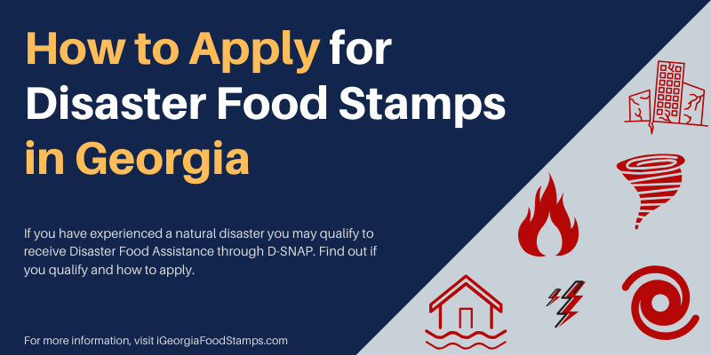 How to Applyfor Disaster Food Stamps in Georgia