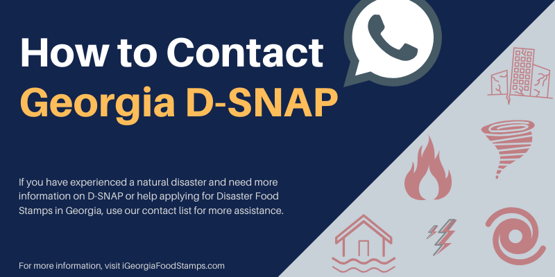 How to Contact Georgia D-SNAP