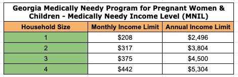 """Georgia Medically Needy Income Limit"""