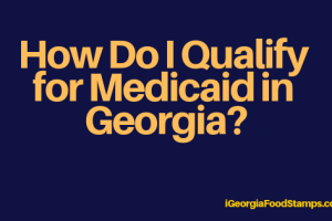 """How do I qualify for Medicaid in Georgia"""