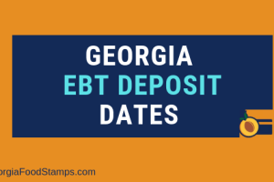 """Georgia food stamps Deposit Dates"""