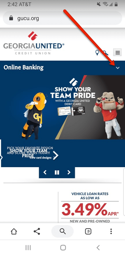 """Georgia United Credit Union Login Instructions"""
