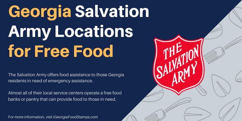 Georgia Salvation Army Locations for Free Food