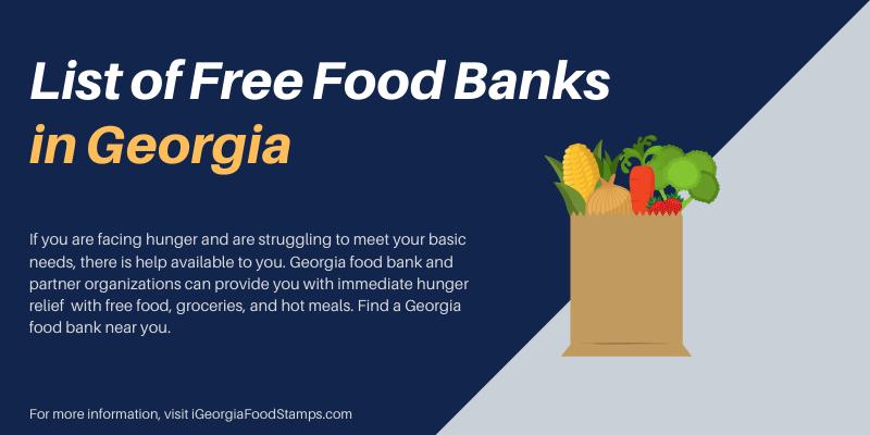 Free Food Banks in Georgia