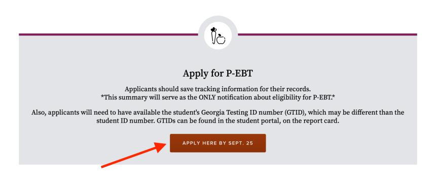 Apply for Georgia P-EBT Benefits
