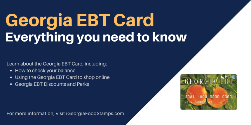 """Georgia EBT Card Guide"""