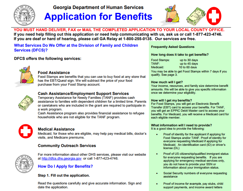 Gateway.ga.gov food stamp application