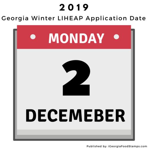 Georgia LIHEAP Application Date 2019