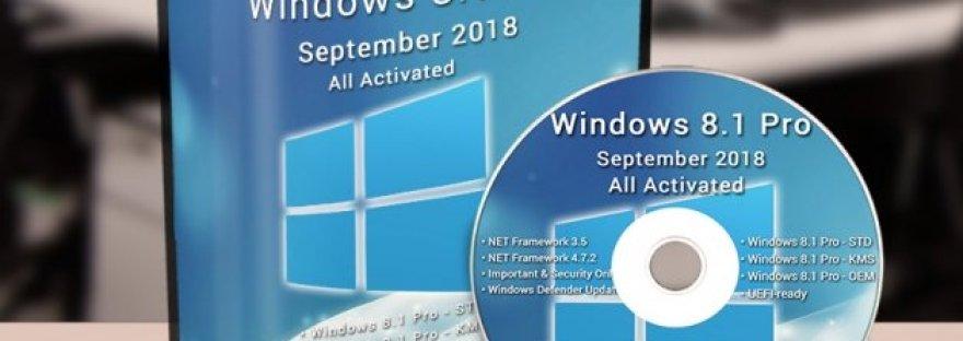 Windows 8 1 Pro September 2018 ISO Free Download – MS HARAJ