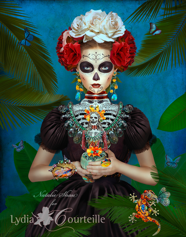 Natalie Shau - Illustration for Lydia Courteille jewellery