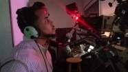 Camera crew at live stream location