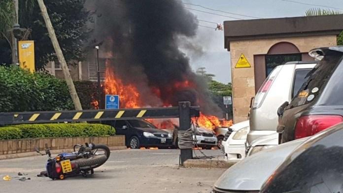 Abarwanyi ba Al -Shabaab binjiye muri iyi hotel batera Grenade impande n'impande