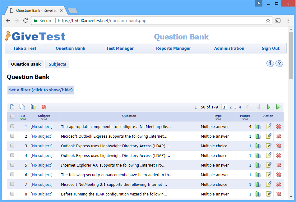 Features Create Your Own Online Quizzes With Php Sql Cloud Igivetest