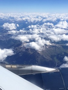 Flying over the Swiss Alps!