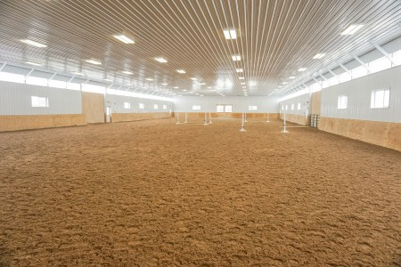 Gorgeous Indoor Arena kick walls