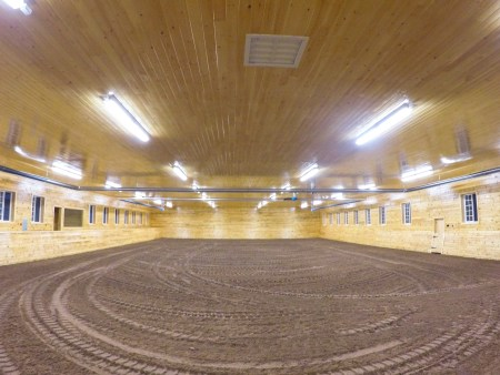 East-west arena construction horse arena IGK Equestrian footing installation