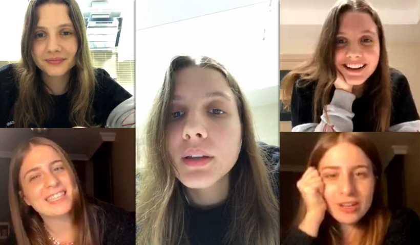 Dilara Kurtulmuş's Instagram Live Stream with Zeynep Özkaya from March 25th 2020.