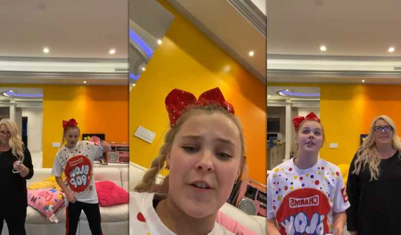 Jojo Siwa's Instagram Live Stream from March 20th 2020.
