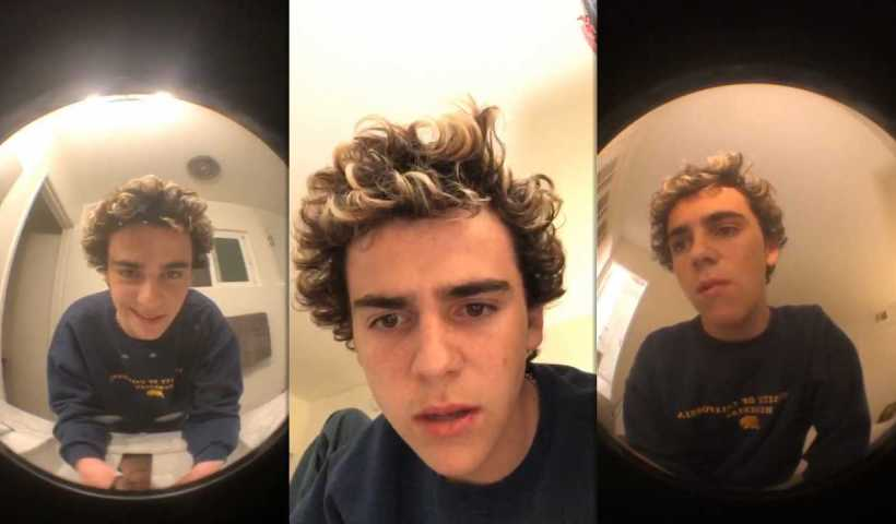 Jack Dylan Grazer's Instagram Live Stream from March 24th 2020.