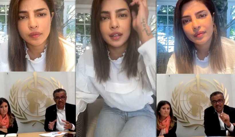 Priyanka Chopra Jonas Instagram Live Stream from March 24th 2020.