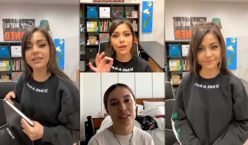 Andrea Russett's Instagram Live Stream from April 13th 2020.