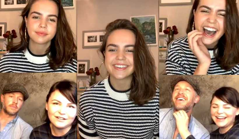 Bailee Madison's Instagram Live Stream with Josh Dallas and Ginnifer Goodwin from April 18th 2020.