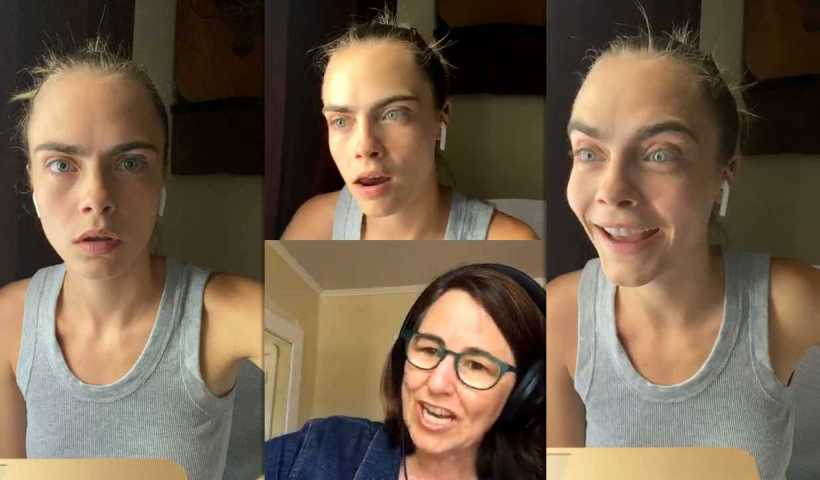 Cara Delevingne's Instagram Live Stream from April 30th 2020.