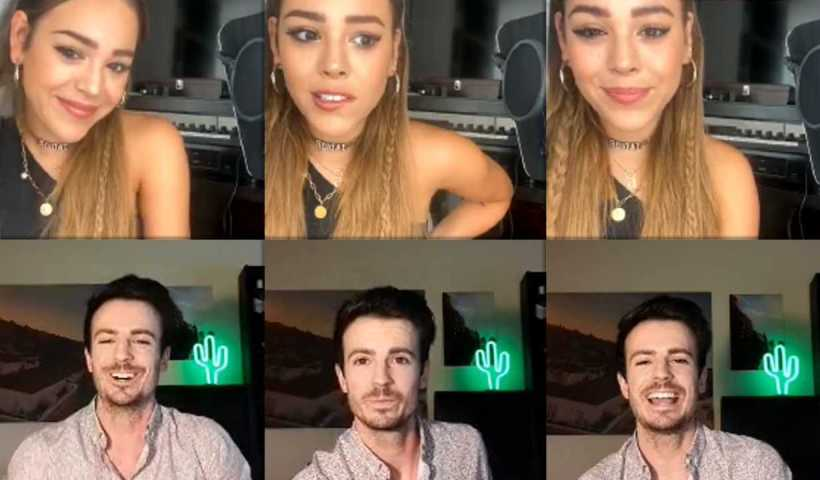 Danna Paola's Instagram Live Stream from April 17th 2020.