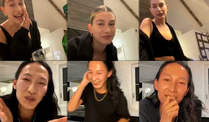 Hailey Baldwin-Bieber's Instagram Live Stream from April 18th 2020.