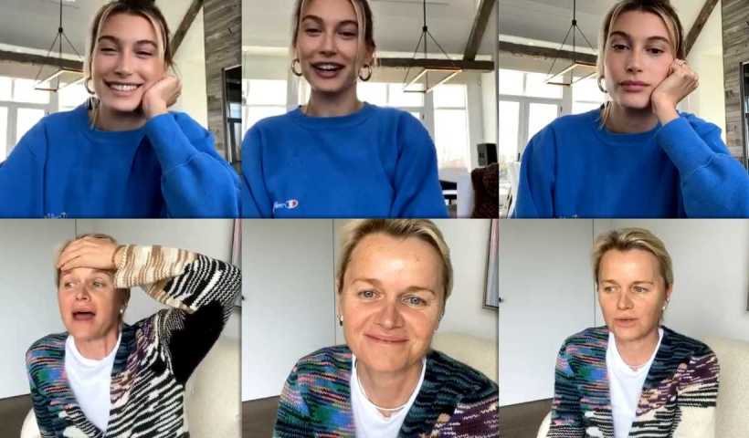 Hailey Baldwin's Instagram Live Stream from April 6th 2020.