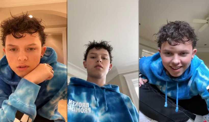 Jacob Sartorius Instagram Live Stream from April 28th 2020.