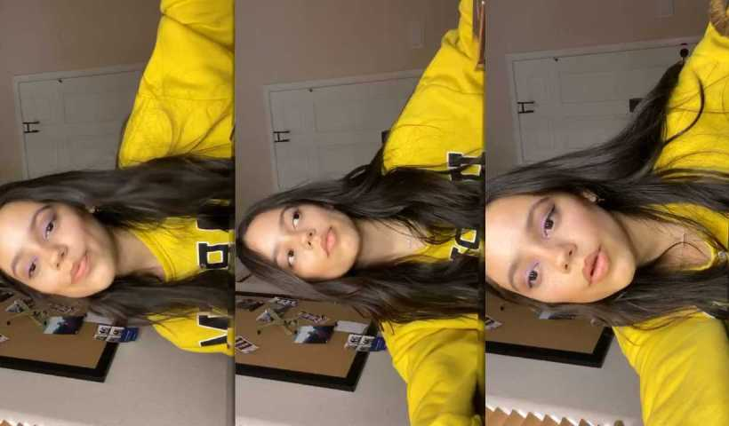 Jenna Ortega's Instagram Live Stream from April 13th 2020.