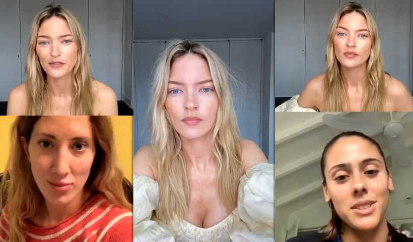 Martha Hunt's Instagram Live Stream from April 24th 2020.