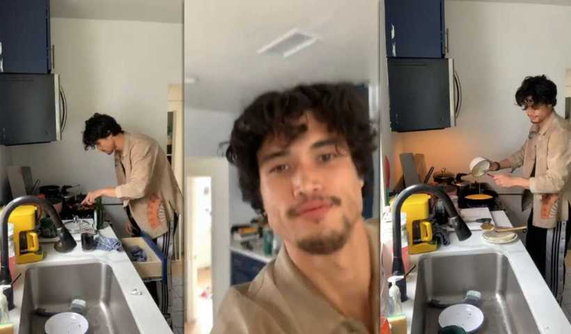Charles Melton's Instagram Live Stream from April 5th 2020.