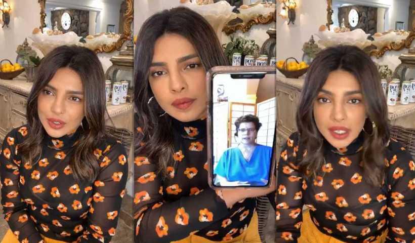 Priyanka Chopra Jonas Instagram Live Stream from April 29th 2020.