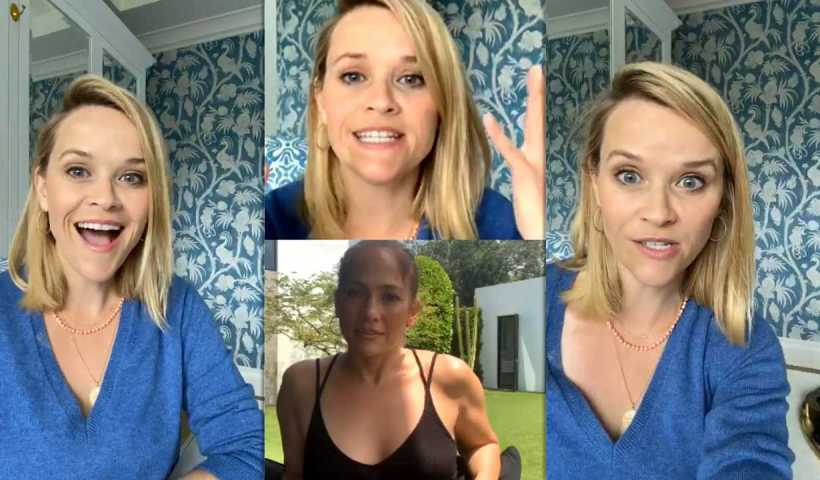 Reese Witherspoon's Instagram Live Stream with Jennifer Lopez from April 6th 2020.
