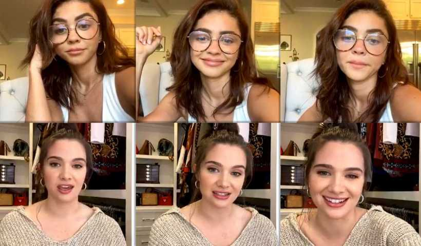 Sarah Hyland's Instagram Live Stream from April 11th 2020.