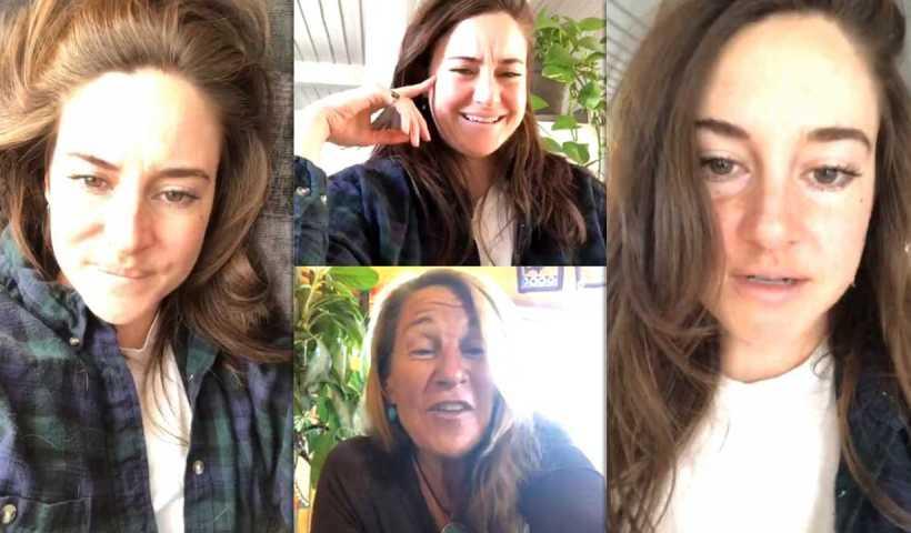 Shailene Woodley's Instagram Live Stream from April 15th 2020.